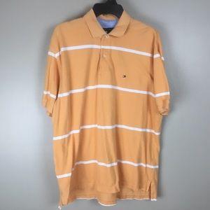 Tommy Hilfiger Men's Orange Polo Shirt (XL)